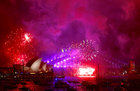 Fireworks light up the Sydney Harbour Bridge and Sydney Opera House as part of New Year celebrations on Sydney Harbour, Australia, December 31. Reuters
