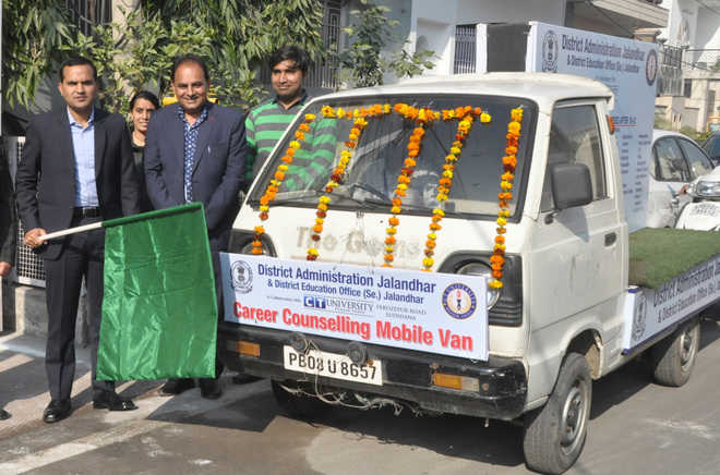 DC flags off van for career counselling to students