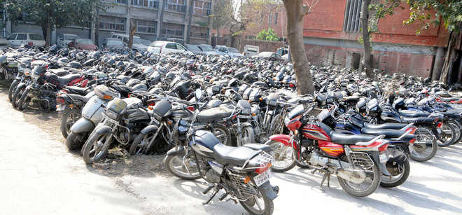 Seized vehicles at police stations worry cops