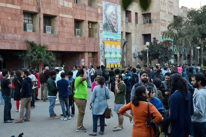 JNU students booked for 'illegally' occupying admin block
