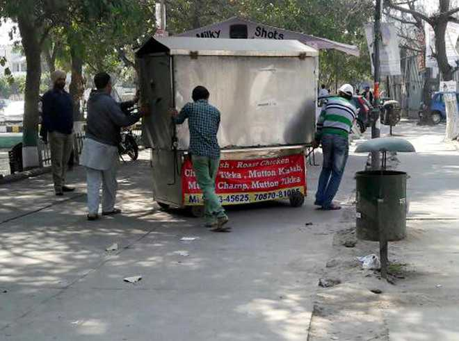 Encroachments removed from Ranjit Avenue area