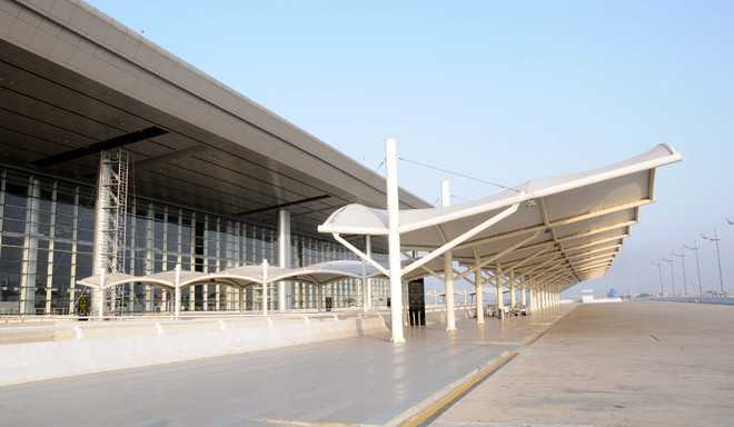 Flights grounded, international airport wears deserted look