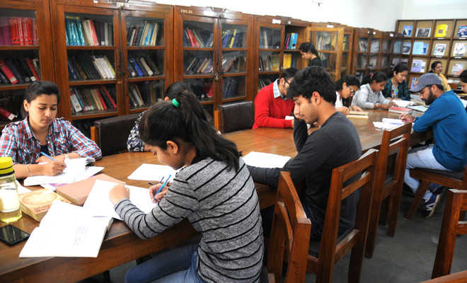 Separate reading section at physics dept library a boon for students
