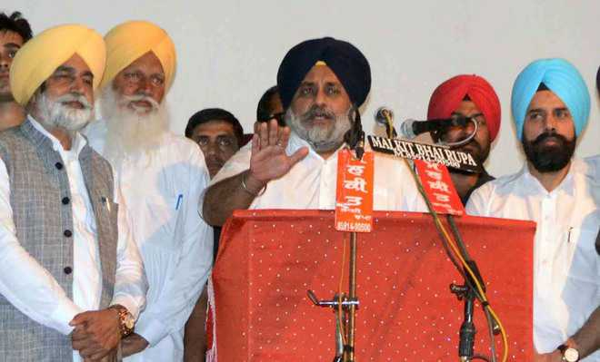 Sukhbir asks SAD workers to be united