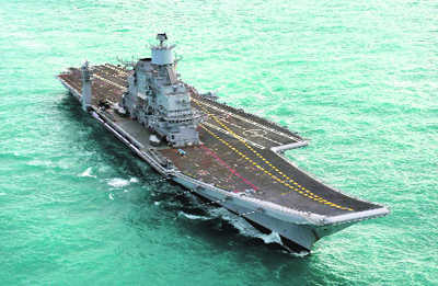 Navy conducts maiden firing of missile from INS Vikramaditya