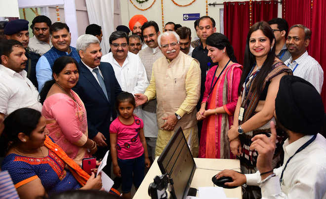 Khattar opens state's first post office passport centre in Karnal
