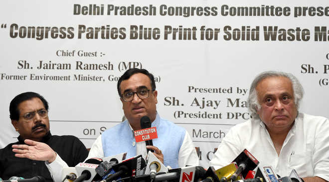 Cong unveils waste mgmt roadmap; blames BJP, AAP for sanitation crisis