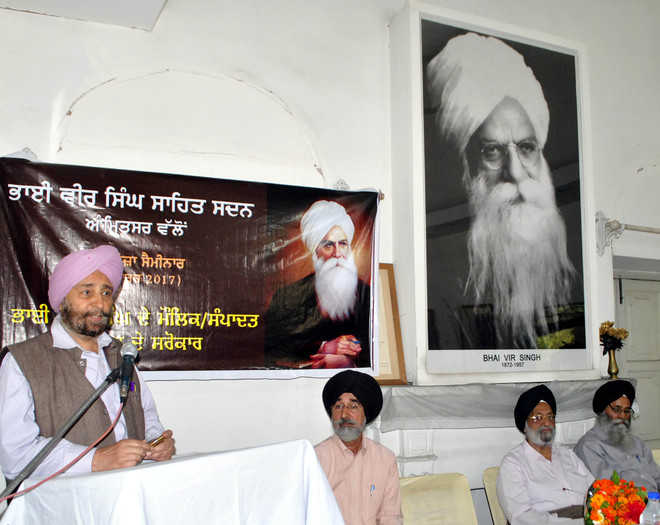 Discussion on Bhai Veer Singh's work
