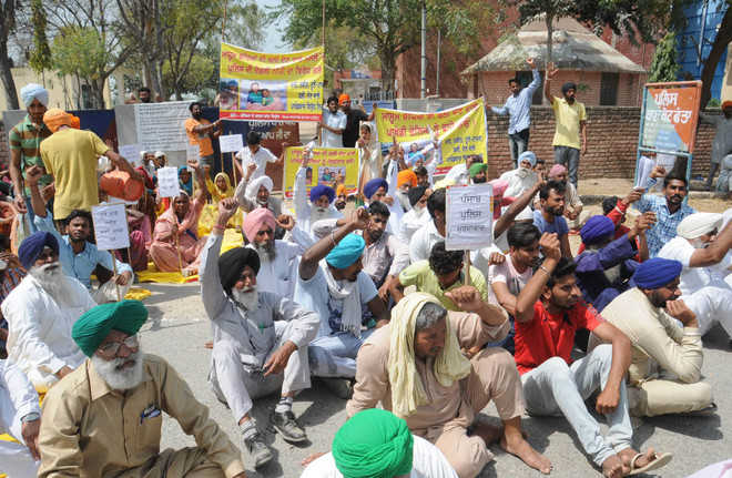 Protesters demand stringent action against accused