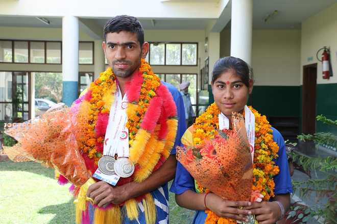 Two medals for Shamsher in Special Olympics in Austria