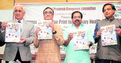 Cong releases roadmap to improve health, education
