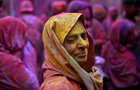 Widows take part in Holi celebrations in the town of Vrindavan in Uttar Pradesh, March 9. Reuters