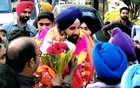 SAD leader Bikram Singh Majithia and his supporters celebrate his victory in the Punjab Assembly election in Majitha near Amritsar on March 11, 2017. PTI photo