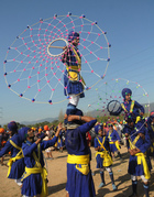A Nihang, a Sikh man who belongs to the armed Sikh order, performs Gatka, an ancient form of Sikh martial art, during the Hola Mohalla festival in Anandpur Sahib on March 13, 2017. Tribune photo: Manoj Mahajan