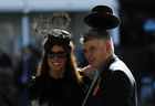 Racegoers pose at the Cheltenham Festival at the Cheltenham Racecourse on March 15, 2017. Reuters photo