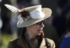 Britain's Princess Anne during Ladies Day at the Cheltenham Festival at the Cheltenham Racecourse on March 15, 2017. Reuters photo