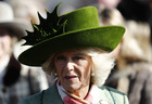 Camilla, Duchess of Cornwall, during Ladies Day at the Cheltenham Festival at the Cheltenham Racecourse on March 15, 2017. Reuters photo