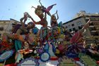 Ninots representing a Bollywood scene are displayed during the Fallas Festival in Valencia on March 16, 2017. AFP photo