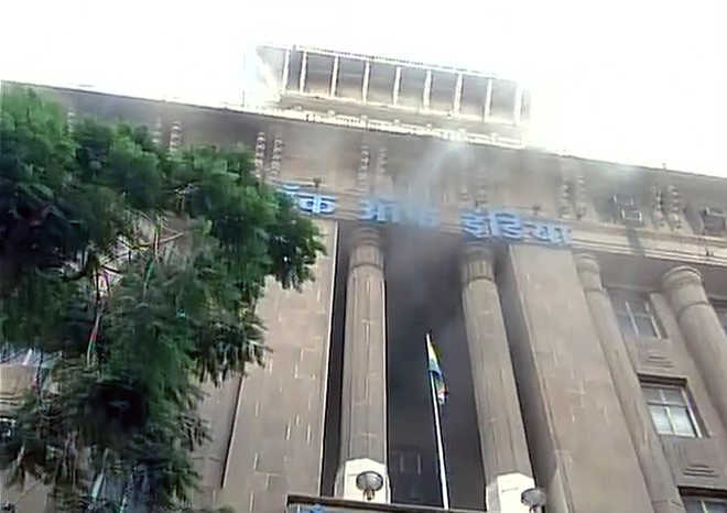 Fire breaks out at Bank of India building near Bombay HC