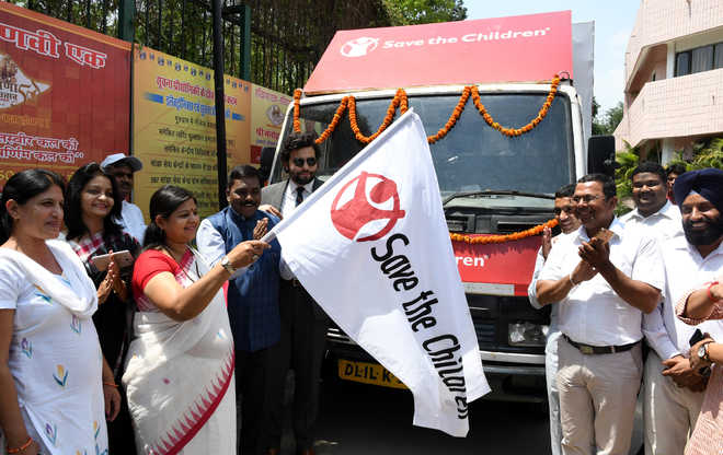 3 'save girl child' vans flagged off