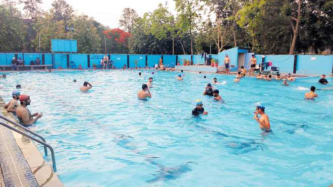 Swimmers welcome change in pool timings - Chandigarh hotel with swimming pool ...