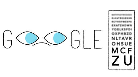 Google's doodle marks 181st birthday of eye test inventor