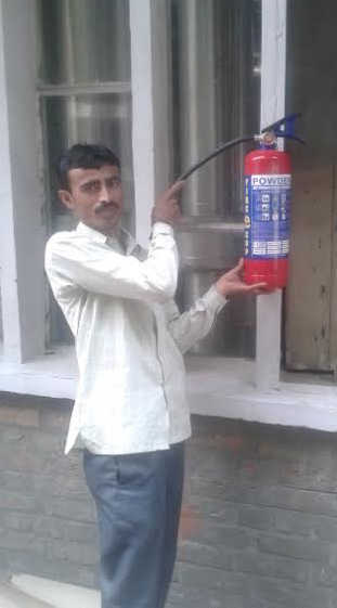 Outdated fire extinguishers replaced at Secretariat