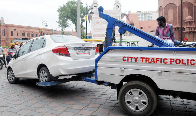 Traffic police draw a blank from wheel clamps in city