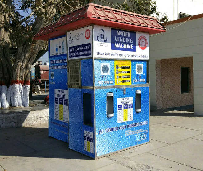 4 water-vending machines lie non-functional at rly station