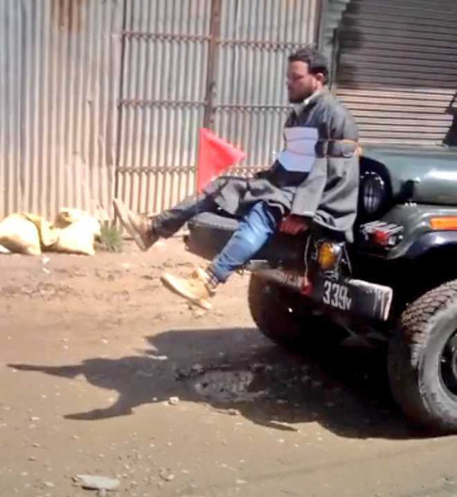 Officer who tied man to jeep in Kashmir awarded for counter-insurgency ops