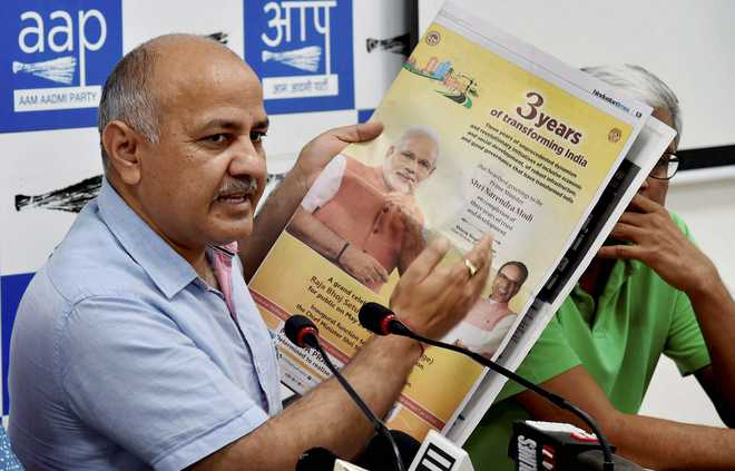 BJP-ruled states spent Rs 2,000 cr on ads praising 3 yrs of Modi govt: AAP