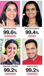 Noida girl first, just short of perfect 100