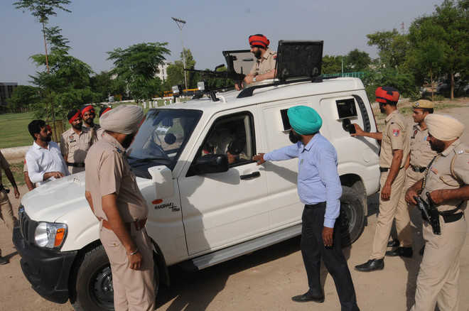 Bulletproof combat vehicles stationed in border districts