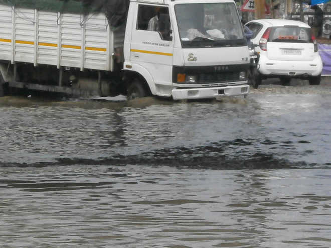 Rain inundates underpasses, commuters suffer in Sahnewal