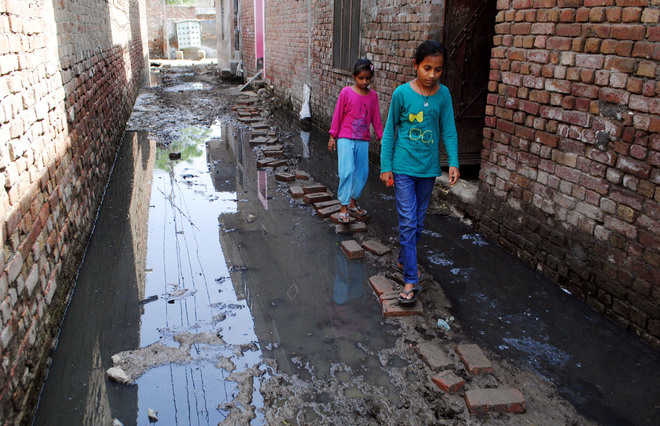 Residents suffer as sewage accumulates on streets