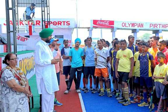 Match to mark Olympic Day at Jarkhar village