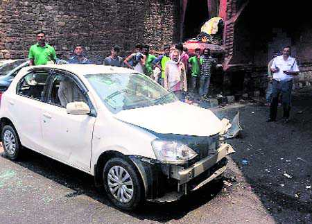 Two killed as car runs over pavement dwellers