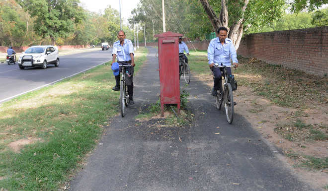 Obstructions mar cycle tracks on Vigyan Path in Chd