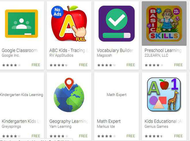 Education apps keep pupils busy in learning