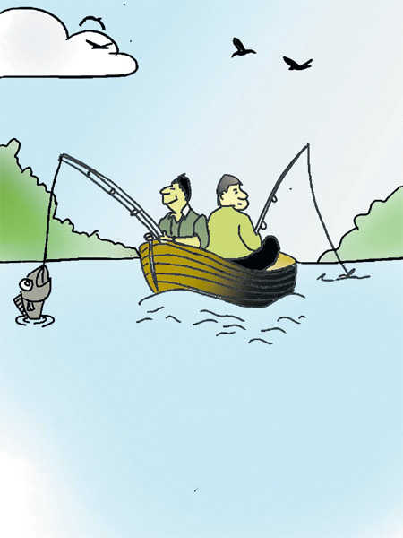 Fishing for philosophy on the sea shore