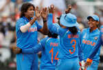 Women's World Cup final: Goswami strikes thrice, England 188/6 in 44 overs