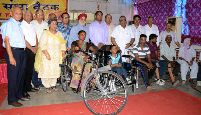 Charitable trust distributes artificial limbs