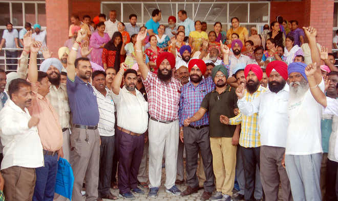 Civic body staff strike over salary delay goes on