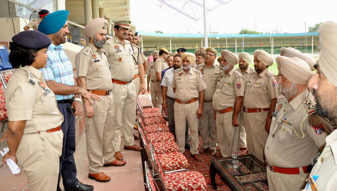 Police officials review security arrangements