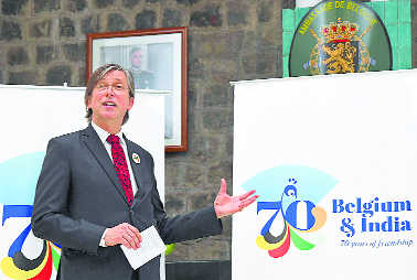 Belgian logo to mark 70 yrs of diplomatic ties with India