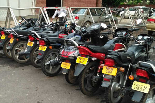 Nine bike taxis impounded