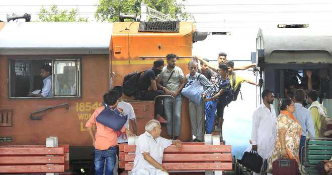 105 rly passengers fined in surprise check