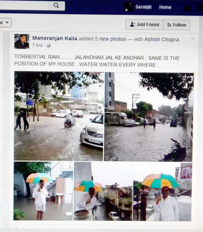 Kalia faces ire for posting pics of his water-logged house