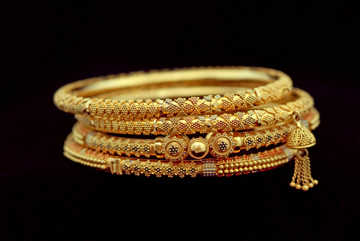 All for six gold bangles