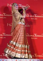 The newly unveiled wax-statue of legendary actress Madhubala at Madame Tussauds Delhi on Thursday. PTI